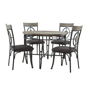 Benedetto 5 Piece Dining Set World Menagerie