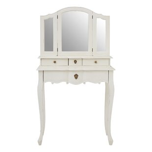 Aimee Dressing Table With Mirror By Lily Manor