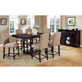 Hiram 7 Piece Counter Height Dining Set by Alcott Hill