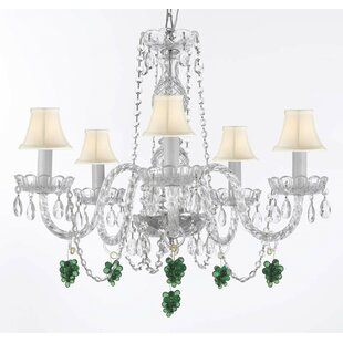Astoria Grand Atherstone 5-Light Elegant Shaded Chandelier