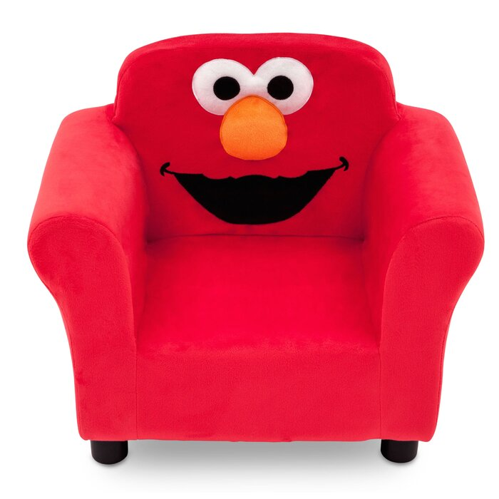 Beau Sesame Street Elmo Kids Upholstered Club Chair