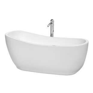 Margaret 66 x 28 Freestanding Soaking Bathtub by Wyndham Collection