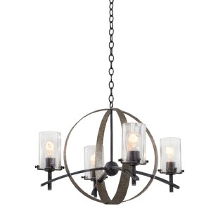 Kalco Irvine 4-Light Shaded Chandelier