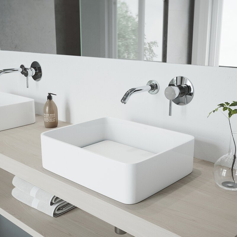 VIGO Olus Wall Mount Bathroom Faucet & Reviews | Wayfair