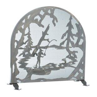 Fly Fishing Creek Single Panel Fireplace Screen By Meyda Tiffany
