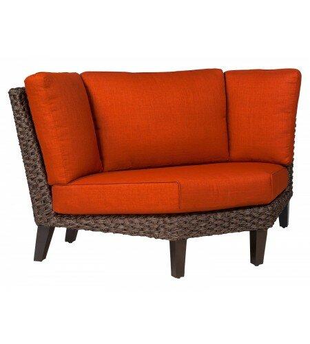 Woodard Mona Wedge Corner Patio Sectional With Cushions Perigold