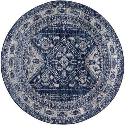 Blue Amp Ivory Amp Cream Round Rugs You Ll Love In 2019 Wayfair
