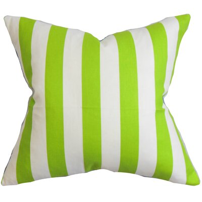 Birch Lane™ Heritage Knotts Indoor/Outdoor 100% Cotton Throw Pillow Color: Chartreuse / White, Size: 18 H x 18  W