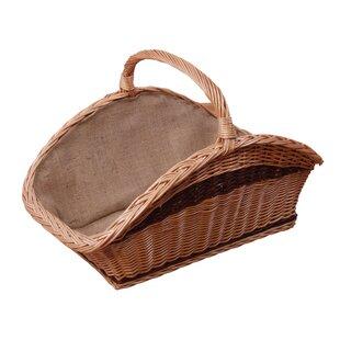 Wood Basket By Bay Isle Home