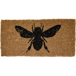 Honey and Gray Bee Doormat