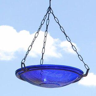 ACHLA Crackle Wrought Iron Hanging Birdbath
