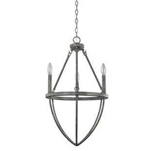 Foundry Select Burhall 3-Light Candle Style Chandelier