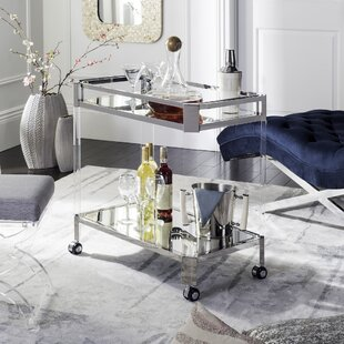 Kirby Mirror Bar Cart by Orren Ellis