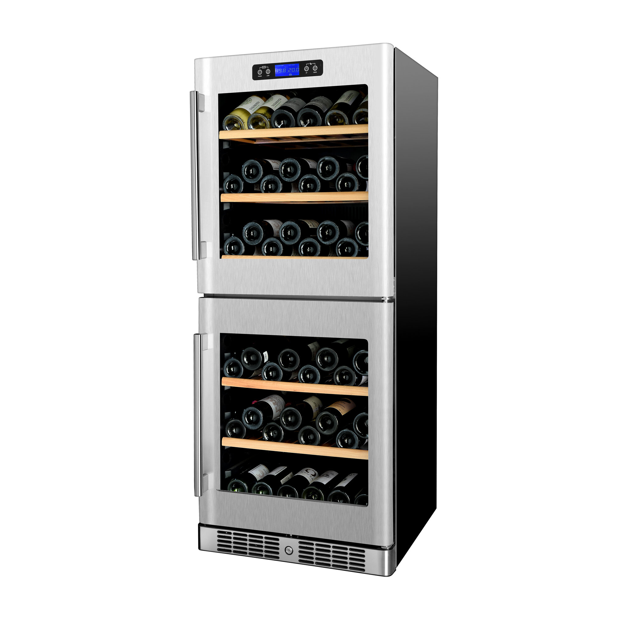 Kucht 84 Bottle Dual Zone Freestanding Wine Cooler Wayfair
