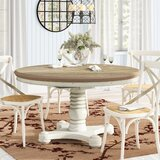 Fleeton Drop Leaf Solid Wood Dining Table by August Grove®