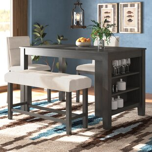 Foundry Select Blood 4 Piece Counter Height Dining Set
