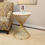 Otto Marble Top End Table by Everly Quinn