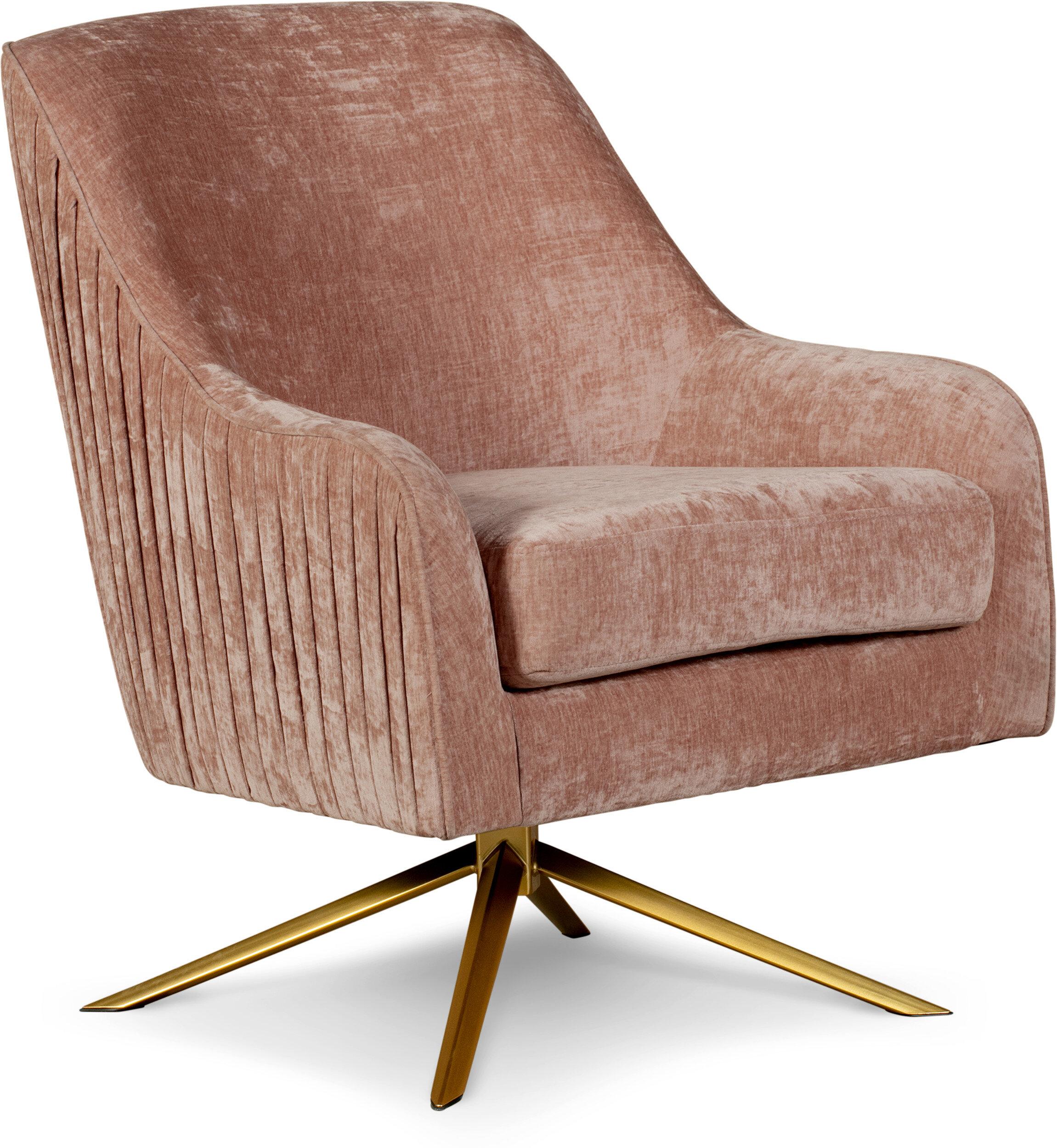 10'' Wide Velvet Swivel Armchair