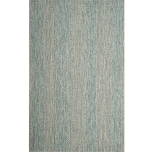 Myers Abstract Gray/Aqua Indoor/Outdoor Area Rug
