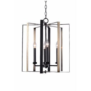 Baldwin 4-Light Lantern Chandelier by Wrought Studio