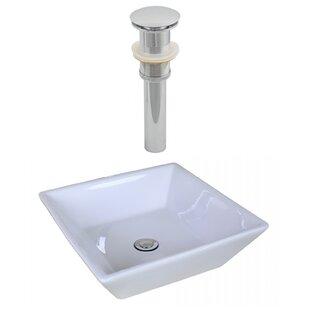 Royal Purple Bath Kitchen Ceramic Square Vessel Bathroom Sink