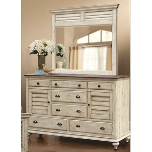 Kennington 7 Drawer Combo Dresser with Mirror