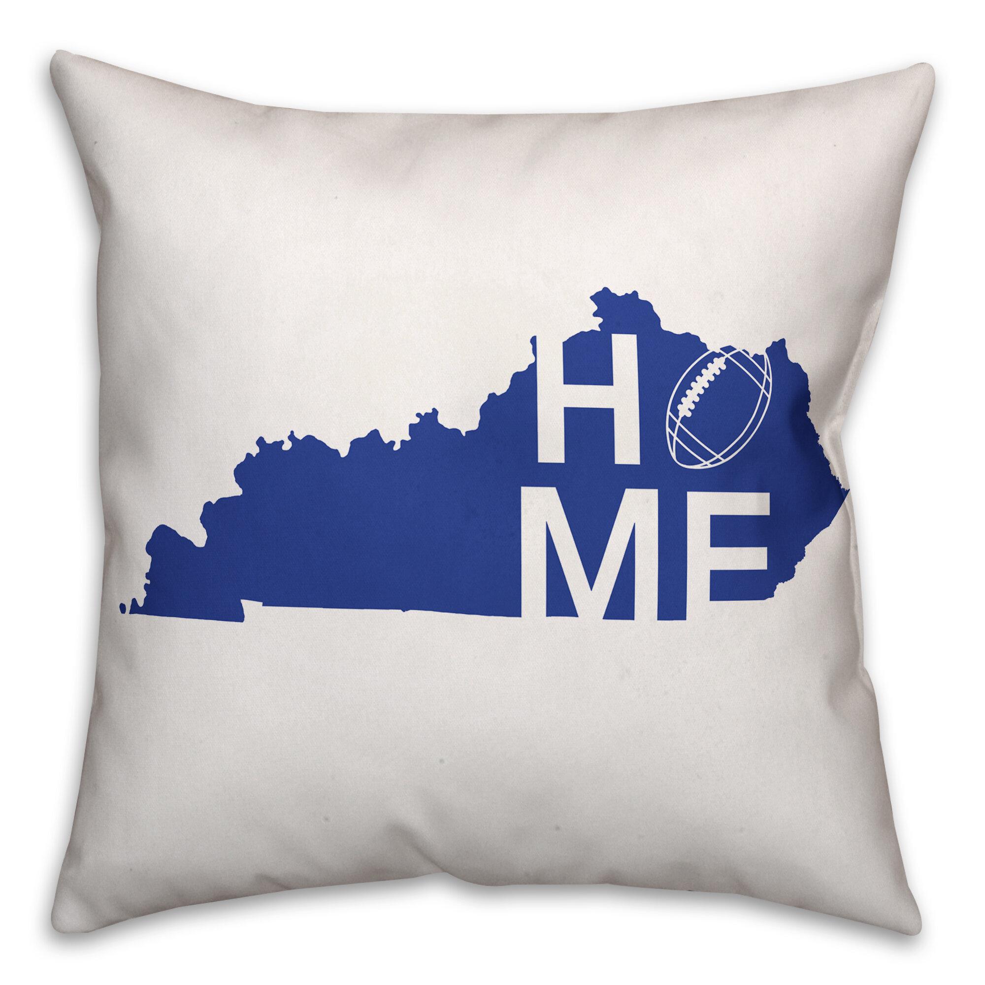Ebern Designs Cordova Kentucky Home Football Indoor Outdoor Throw Pillow Wayfair