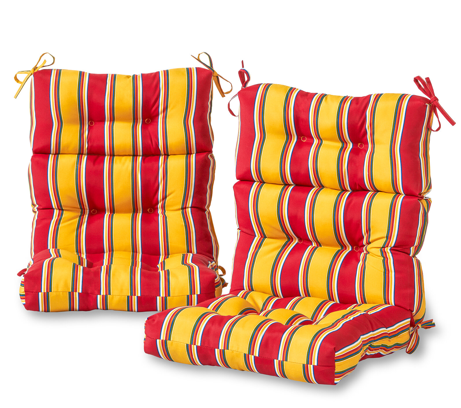 Andover Mills Henrich High Back Indoor/Outdoor Striped Lounge Chair Cushion  Set | Wayfair