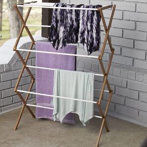Bamboo Accordion Free-Standing Drying Rack