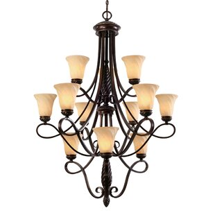 Darby Home Co Hoopeston 12-Light Shaded Chandelier