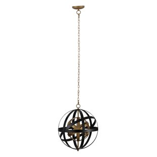 Mccollister Pallas 1-Light Globe Pendant by Williston Forge