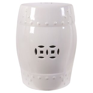 Odie Garden Stool In White By August Grove