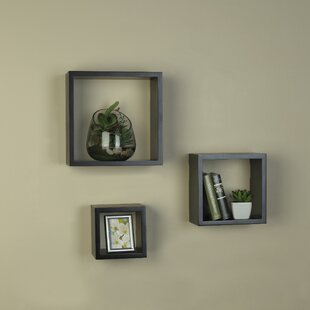 3 Piece Square Shelf Set