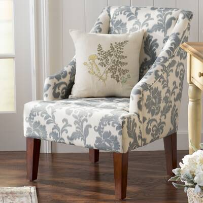 lark manor charlack armchair reviews wayfair rh wayfair com Green Arm Chair Turquoise Ikat Arm Chairs