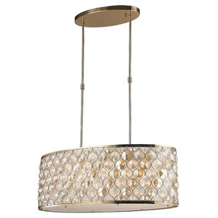Rosdorf Park Adonis Crystal 12-Light Kitchen Island Pendant