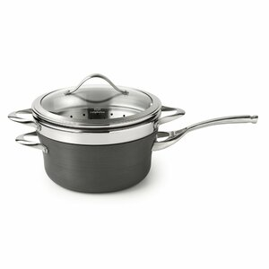 Contemporary Nonstick 4.5 Qt. Saucepan with Lid