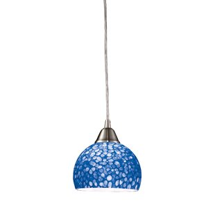 Latitude Run Redd 1-Light Dome Pendant