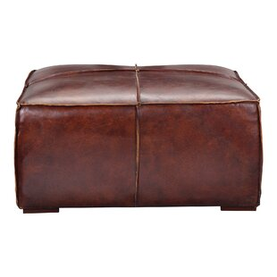 Licon Leather Ottoman by Mercury Row
