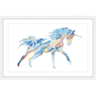 Theriault 'Painted Unicorn' Framed Acrylic Painting Print