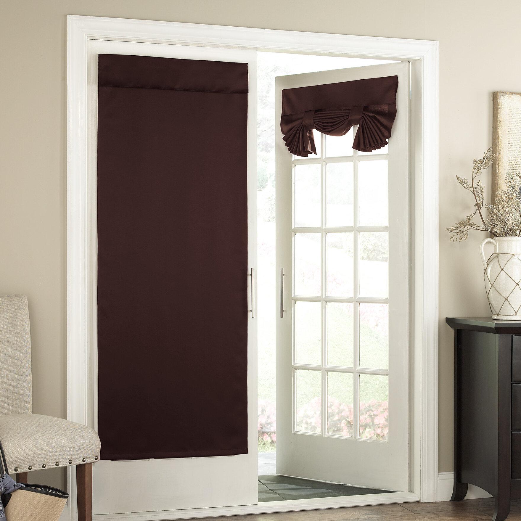 Charlton Home Cantor Solid Room Darkening Tab Top Window Door Panel Reviews Wayfair