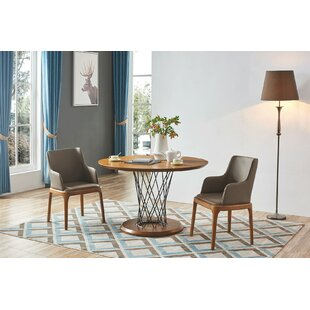 Aloway 3 Piece Solid Wood Dining Set