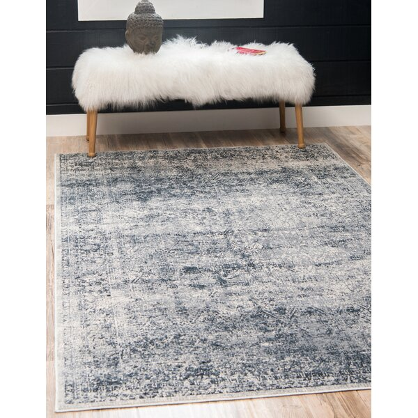 Three Posts Lanett Oriental Dark Blue Area Rug Reviews Wayfair