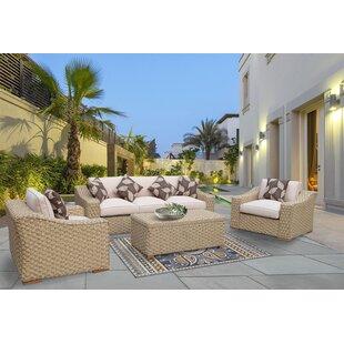 Charley 4 Piece Sunbrella Sofa Seating Group with Sunbrella Cushions