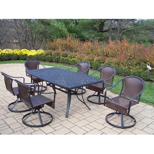 August Grove Basile 7 Piece Swivel Dining Set