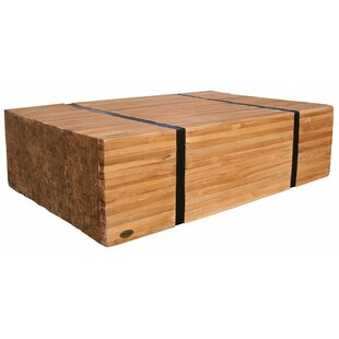 Serefina Teak Wood Coffee Table by Union Rustic Design