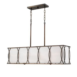 Wrought Studio Oswald 4-Light Square/Rectangle Chandelier