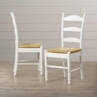 Gennevilliers Ladder Back Solid Wood Dining Chair (Set Of 2) ByLark Manor  ...