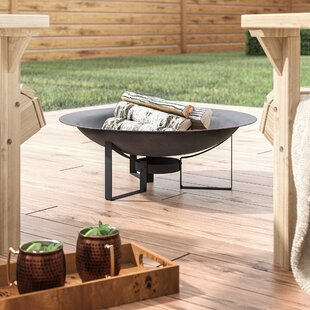 Buendia Rustic Bowl Cast Iron Wood Burning Fire Pit By Union Rustic