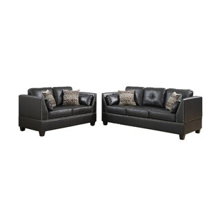 Bobkona Zenda 2 Piece Living Room Set