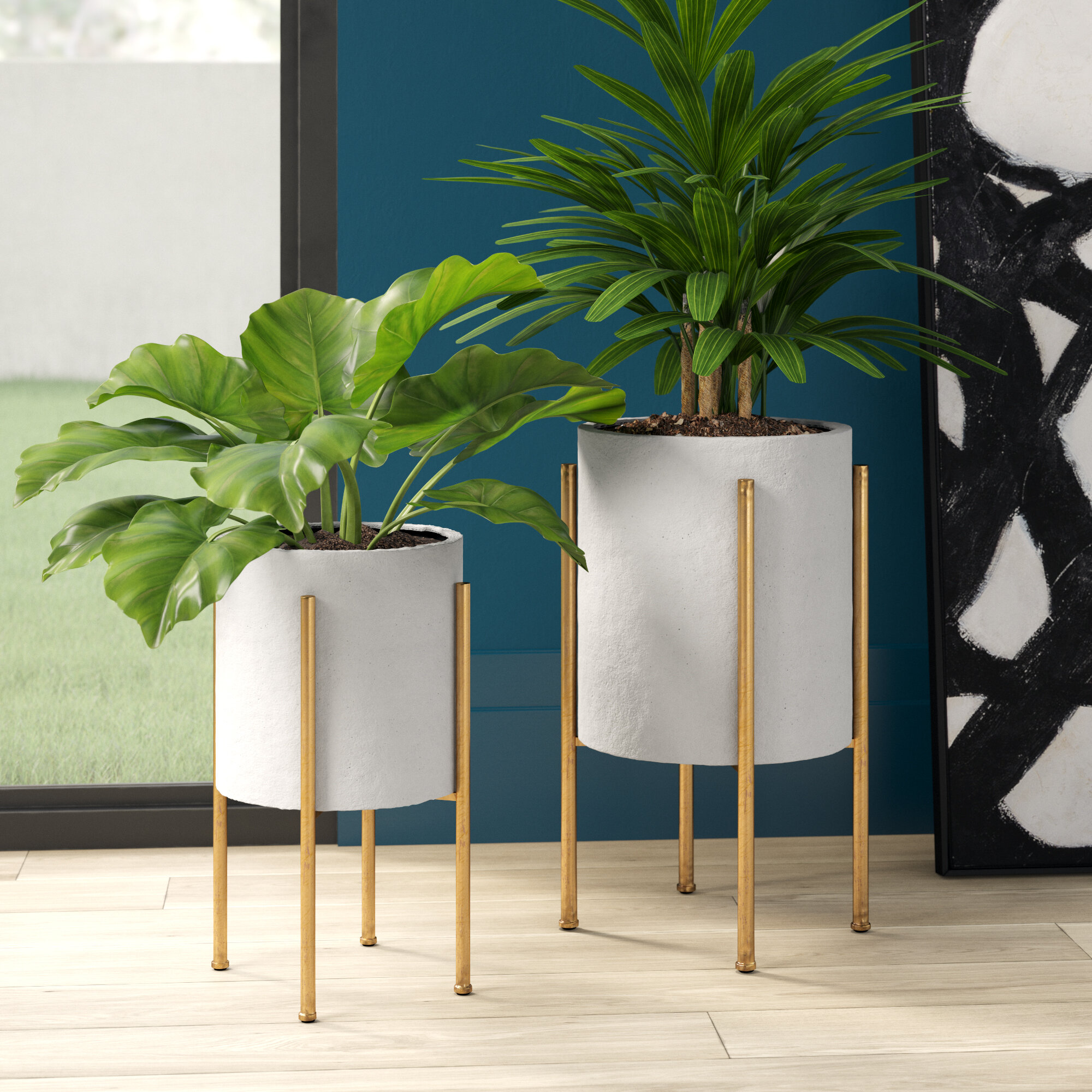 Large Metal Planters You Ll Love In